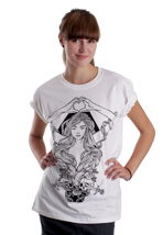 Abandon Ship Apparel - Heart In Hand White - Girly