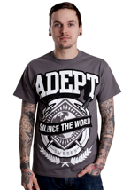 Adept - Silence The World Charcoal - T-Shirt
