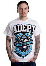 Adept - Silence The World White - T-Shirt