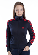 Adidas - Firebird Dark Navy/University Red - Girl Track Jacket