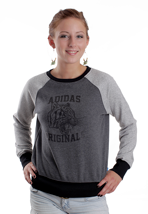 Adidas - Glam Dark Grey Heather/Medium Grey Heather - Girl Sweater