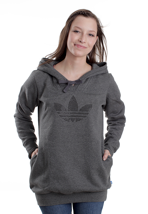 Adidas - Glam Long Dark Grey Heather - Girl Hoodie