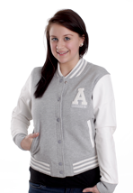 Adidas - Letterman Medium Grey/Running White - Girl College Jacket