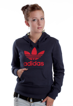 Adidas - Trefoil Dark Navy/University Red - Girl Hoodie