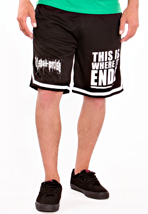 All Shall Perish - This Is Where It Ends Striped - Shorts