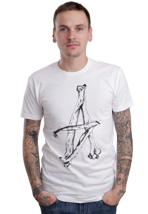 Altamont - A-Bone White/Black - T-Shirt