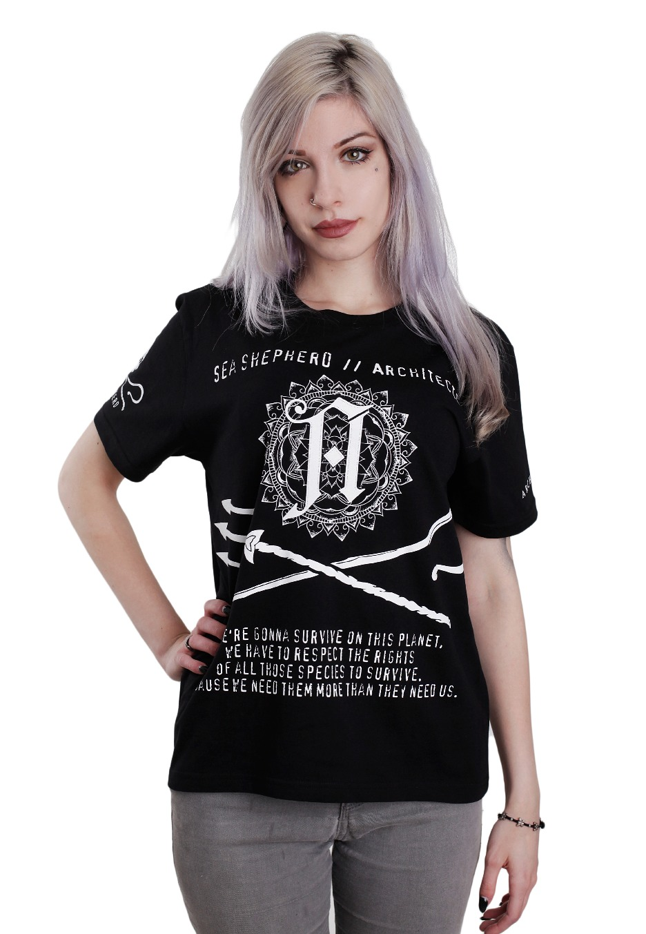 architects sea shepherd collab t shirt hardcore. Black Bedroom Furniture Sets. Home Design Ideas