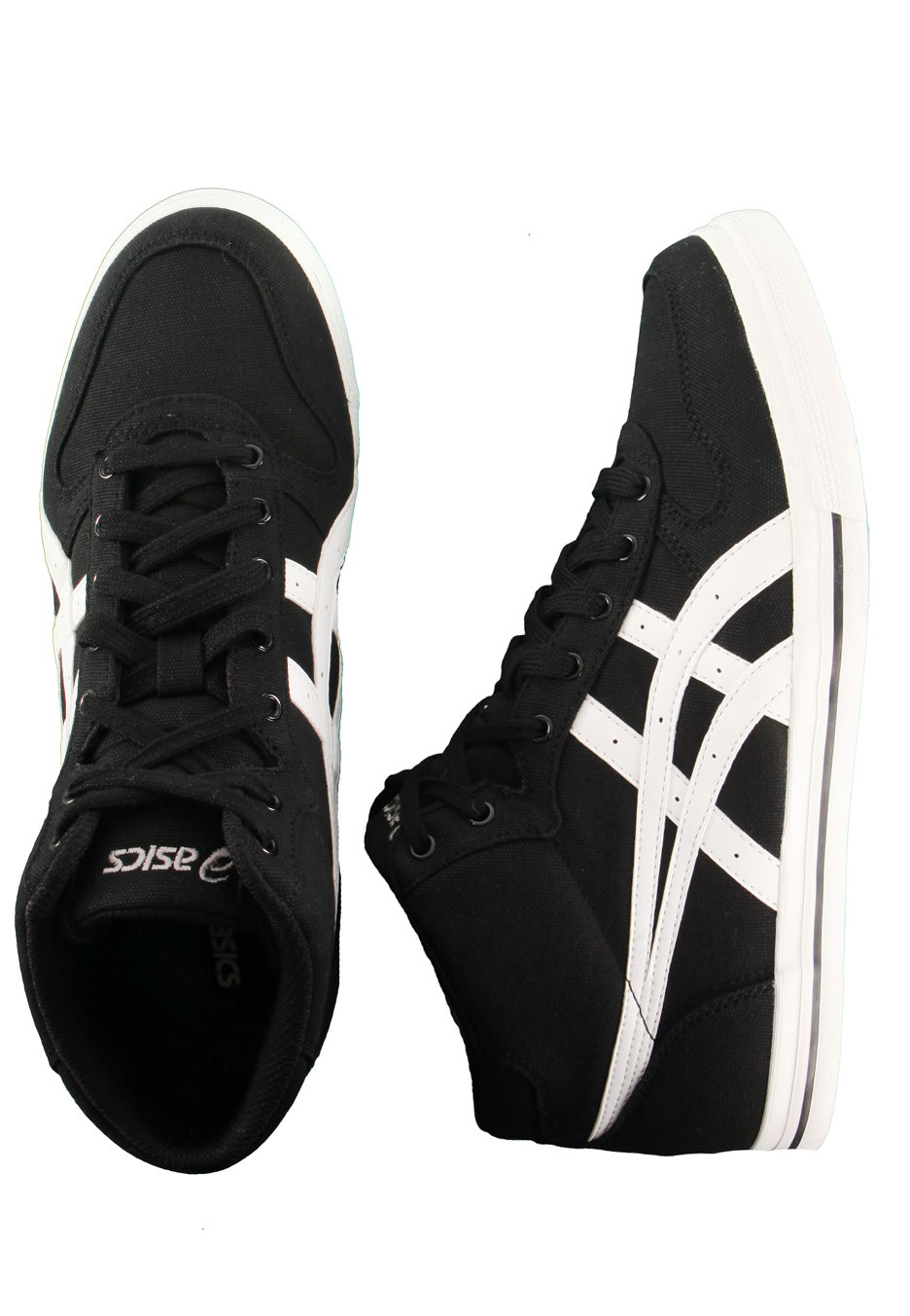 asics - aaron mt cv black  white - shoes
