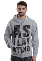 As I Lay Dying - Letters Sportsgrey - Zipper