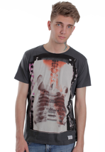 Ben Sherman - MB00138 Mod Fit X-Ray Guitar Graphic Washed Carbon - T-Shirt