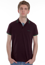 Ben Sherman - MC00001S Mod Fit Romford Red Mahogany - Polo