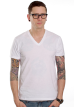 Ben Sherman - MB00026S Mod Fit Prestwick Optic White - V Neck T-Shirt