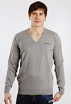 Ben Sherman - ME00006 Redwick Slate Grey Marl - V Neck Sweater