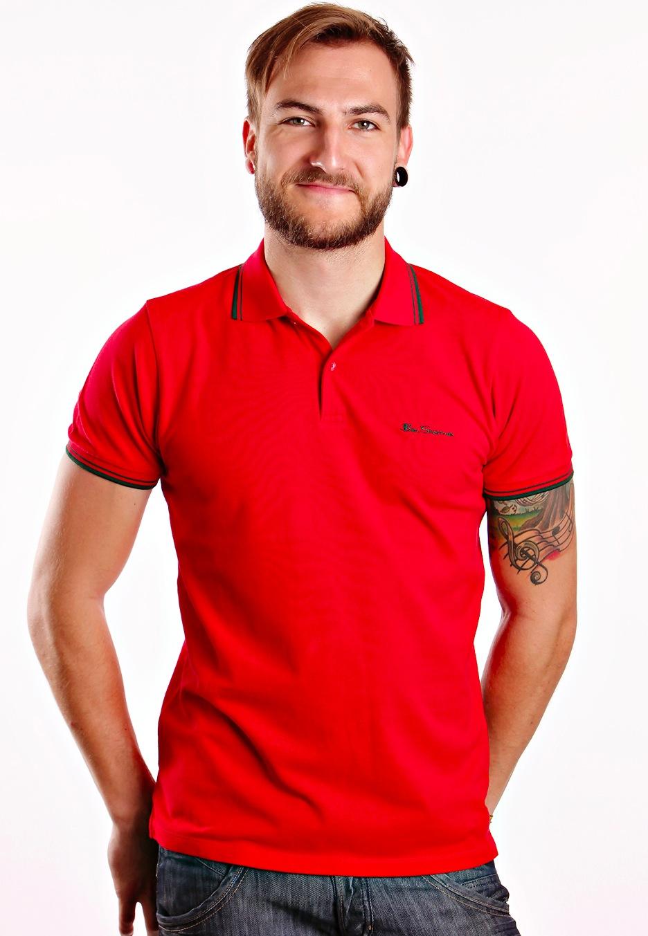 ben sherman s s pique mars red polo streetwear shop worldwide. Black Bedroom Furniture Sets. Home Design Ideas