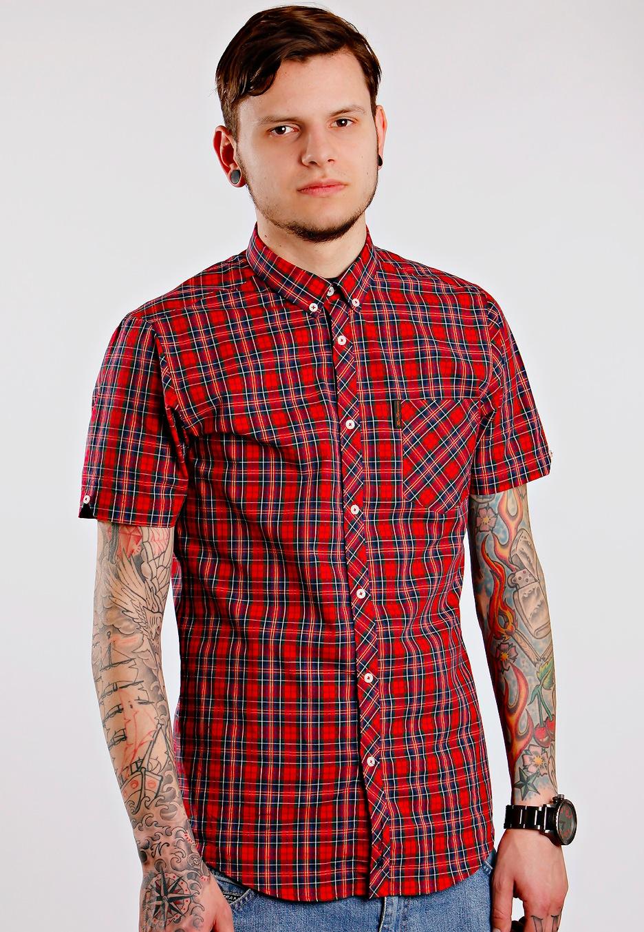 ben sherman shirt s s sparkling red hemd streetwear shop de. Black Bedroom Furniture Sets. Home Design Ideas