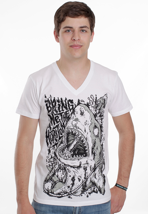 Bring Me The Horizon - Death By Toxic White - V Neck T-Shirt