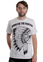 Bring Me The Horizon - Indian Skull White - T-Shirt