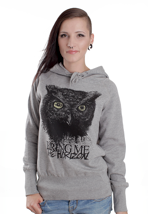 Bring Me The Horizon - Owl Grey Melange - Girl Hoodie