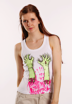 Bring Me The Horizon - Severed Hands White - Girl Tank