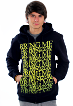 Bring Me The Horizon - Yellow Logo Navy - Zipper