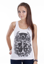 Brutal Knack - Anchor White - Girl Tank