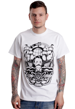 Brutal Knack - Bleeding Sailor White - T-Shirt