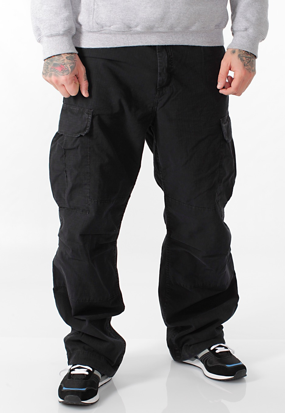 Carhartt WIP - Cargo Columbia Black Stone Washed - Pants ...