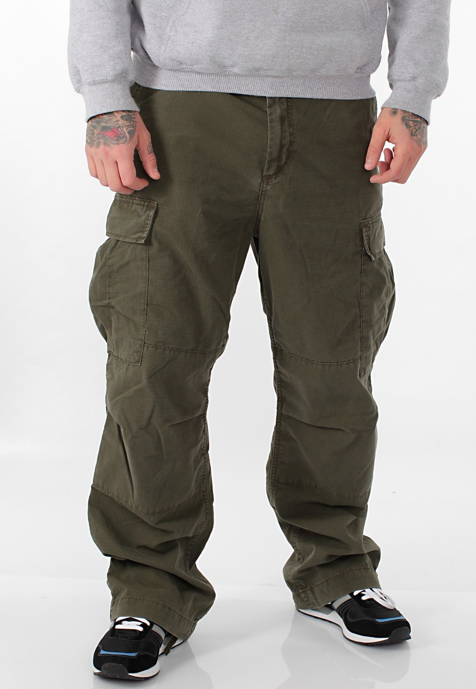 Carhartt WIP - Cargo Columbia Cypress Stone Washed - Pants ...