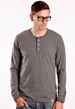 Carhartt - Henley Dark Grey Heather - Longsleeve