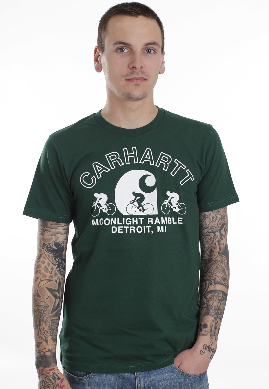 Carhartt wip moonlight fir white t shirt boutique for Carhartt burgundy t shirt