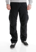 Carhartt - Slim Cargo Columbia Black Stone Washed - Pants