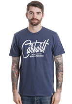 Carhartt - Travis Navy Heather/White - T-Shirt