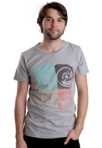 Cheap Monday - Bruce Pictures Grey Melange - T-Shirt