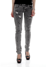 Cheap Monday - Narrow Hole Grey - Girl Jeans