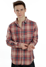 Cheap Monday - Neo Blue/Red/Beige Check - Shirt