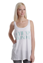 Cheap Monday - Nomi Turquoise Cheap Monday White - Girl Tank