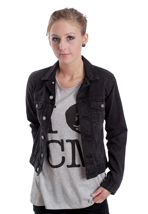 Cheap Monday - Tess Washed Black - Girl Jeans Jacket