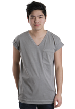 Cheap Monday - Tim Ash Grey - V Neck T-Shirt