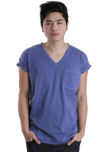 Cheap Monday - Tim Azure Blue - V Neck T-Shirt