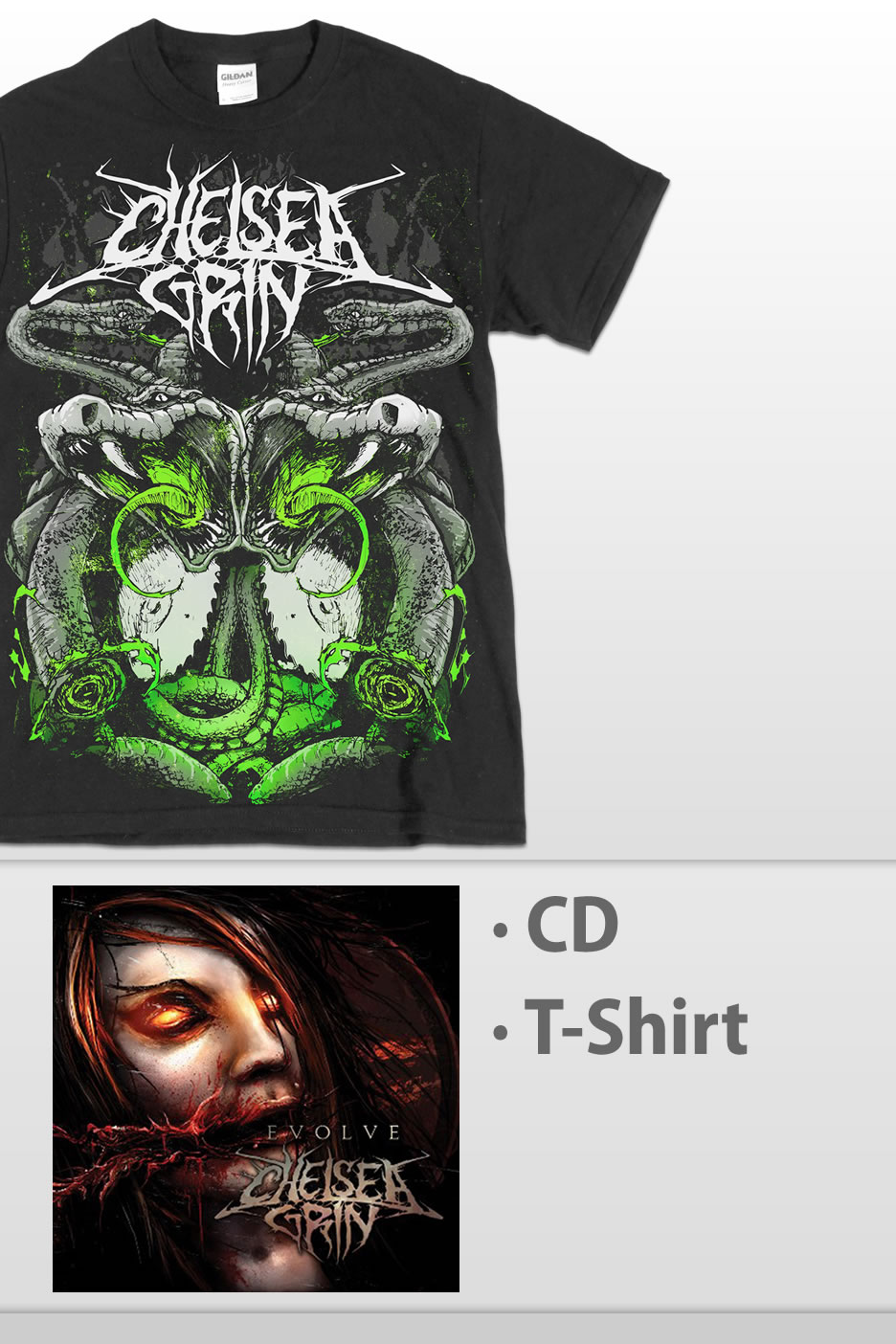 chelsea grin evolve special pack cds vinyl and dvds of your favourite bands impericon. Black Bedroom Furniture Sets. Home Design Ideas