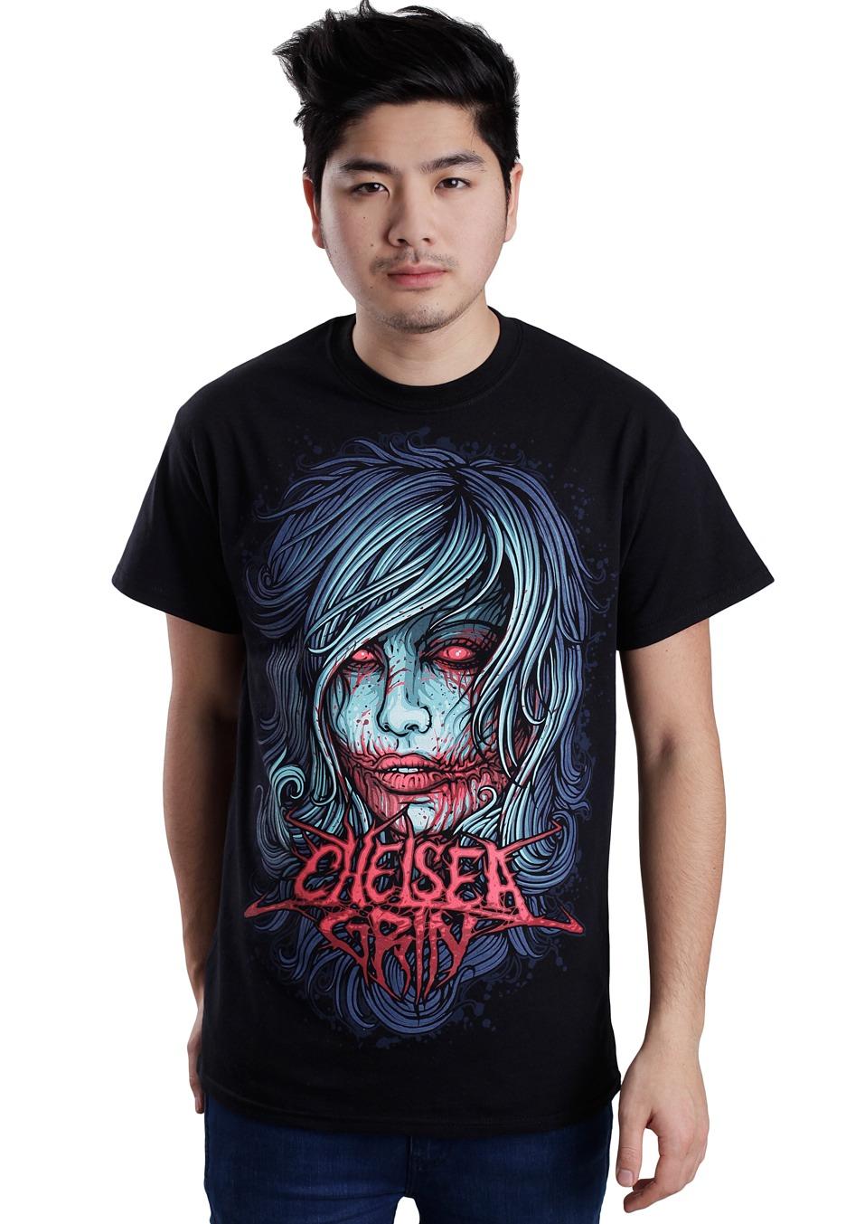 chelsea grin girl face t shirt official metalcore merchandise shop worldwide. Black Bedroom Furniture Sets. Home Design Ideas