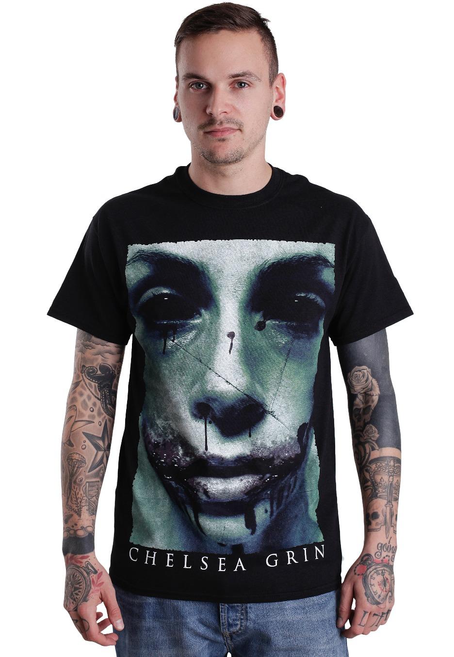 chelsea grin girl photo face t shirt official deathcore merchandise shop uk. Black Bedroom Furniture Sets. Home Design Ideas