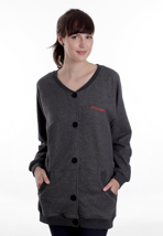 Cleptomanicx - Ahso Heather Dark Grey - Girl Cardigan