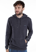 Cleptomanicx - Ligull 3000 Heather Dark Navy - Hoodie