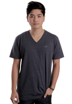 Cleptomanicx - Ligull Heather Dark Navy - V Neck T-Shirt