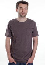 Cleptomanicx - Ligull Long Heather Dark Brown - T-Shirt