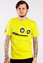 Cleptomanicx - Smile Zitrone Yellow - T-Shirt