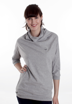 Cleptomanicx - Still Rollin Melange Heather Grey - Girl Sweater