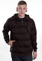 Cleptomanicx - Stripe Dark Brown - Hoodie