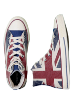 Converse - CT All Star Union Jack Hi UK Flag Distressed - Girl Shoes